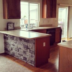 I like this idea but want to extend it around the corner as well, also use as a backsplash