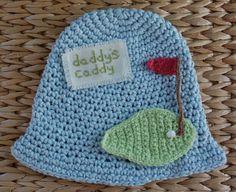 Boys Golf Hat 100 USA Grown Cotton Crochet  Perfect by fudgieknits, $18.95