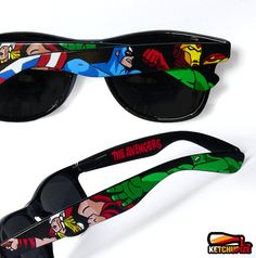 The Avengers: Lunettes de Soleil Geek style Ray-Ban Wayfarer Ray Ban Sunglasses Sale, Sunglasses Outlet, Sunglasses Online, Sunglasses 2016, Discount Sunglasses, Ray Ban Wayfarer, Mode Geek, Estilo Geek, Geek Fashion