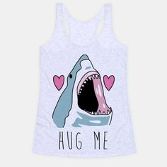 Show off your love of sharks with this cute, shy and misunderstood, hand drawn, shark week inspired shirt! Sharks don't want to hurt anybody, sharks just want hugs! | Beautiful Designs on Graphic Tees, Tanks and Long Sleeve Shirts with New Items Every Day. Satisfaction Guaranteed. Easy Returns.