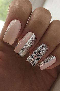 Die besten Hochzeit Nagel Trends 2020 Astuces Babybloomer blanc Bordeau Coul The best wedding nail trends 2020 Astuces Babybloomer Nail Art Designs, Manicure Nail Designs, Nail Manicure, Nail Designs With Glitter, Nail Polish, Pink Nail Art, Cool Nail Art, Nail Art Rose, Glitter Nail Art