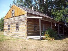 Meyer Log Cabin, located near Veterans Park in Bay City, Michigan.