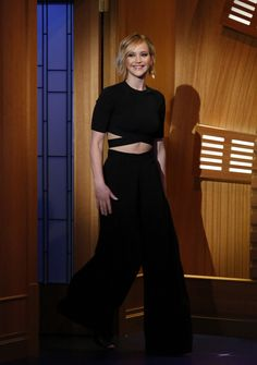 5/21/14 - Jennifer Lawrence on 'Late Night with Seth Meyers' in NYC.