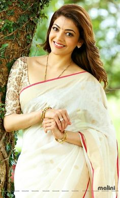 Check out beautiful Kajal Agarwal wallpaper and HD photos and pictures. Kajal Agarwal is one of the most beautiful south Indian and Bollywood actress. Indian Bollywood, Bollywood Actress, Kajal, Kerala Saree, Simple Sarees, Actress Pics, Elegant Saree, Indian Beauty Saree, Saree Dress