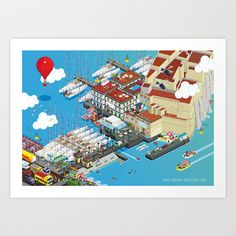 Locals Only - Naples Art Print by Totto Renna - $18.00