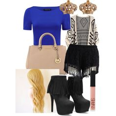 A fashion look from January 2015 featuring Forever New t-shirts, Chicwish shorts and MICHAEL Michael Kors handbags. Browse and shop related looks.
