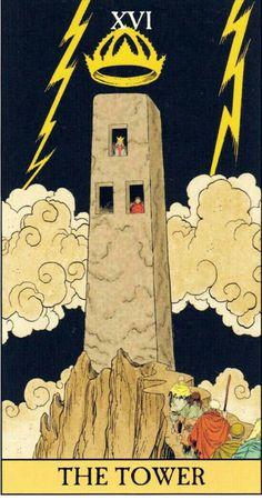 XVI Tower entryway storage and organization - Storage And Organization The Tower Tarot Card, Tarot Cards Major Arcana, Le Tarot, Egyptian Mummies, Alchemy Symbols, Tarot Card Decks, Skateboard Art, Occult, Entryway Storage