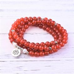"""Gemstones: Grade """"A"""" Red Agate Stone Size: 8 mm Mala Length: 35 inches & inches This bundle features: Red Agate Root Chakra Mala Red Agate Root Chakra Bracelet Anxiety And Anger, Get Rid Of Anxiety, Root Chakra Stones, Building Self Confidence, Red Agate, Spiritual Growth, Beaded Bracelets, Gemstones, Beads"""