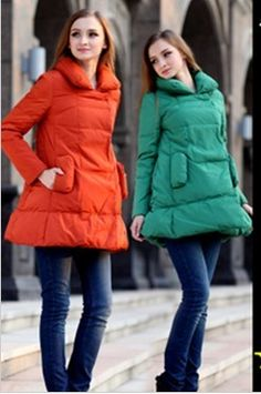 Maternity Dress Fashion Women's Zipper Down Jacket Warm Puffer Parka Long Coats | eBay