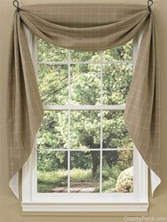 The Country Porch features Cobblestone Fishtail Curtain Swag.- The Country Porch features Cobblestone Fishtail Curtain Swags from Park Designs. The Country Porch features Cobblestone Fishtail Curtain Swags from Park Designs. Swag Curtains, Home Curtains, Farmhouse Curtains, Country Curtains, Farmhouse Windows, Curtains Living, Kitchen Curtains, Bathroom Curtains, Fringe Curtains
