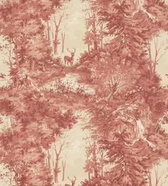 Pantone, Marsala | Torridon Wallpaper by Mulberry Home | Jane Clayton