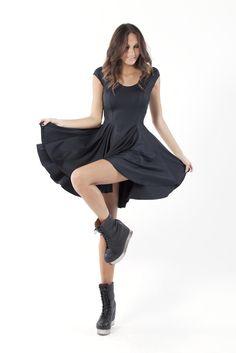 Evil Cheerleader Black Dress