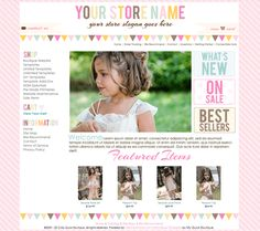 buttercream premade boutique website template I like the words on the right and the pictures on the bottom