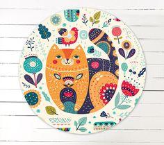 Decorative  Magnet with a cute CAT Dimensions: by MoleskoStudio