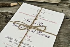 Wedding Invitation  Classic  Monogram by WideEyesDesign on Etsy, $2.00