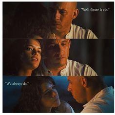 Dominic Toretto & Letty Ortiz (Vin Diesel & Michelle Rodriguez)