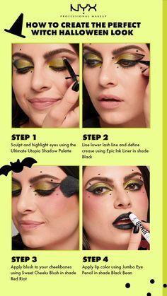Makeup Art, Makeup Tips, Beauty Makeup, Eye Makeup, Hair Makeup, Makeup Tutorials, How To Apply Blush, Green Makeup, Halloween Makeup Looks