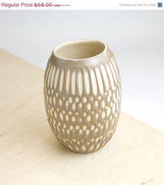 Back to School Sale Handmade ceramic vase stoneware by imkadesign, $46.40