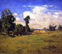 Ely pont, huile sur toile de William Langson Lathrop (1859-1938, United States)
