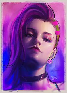 Sombar by superschool48.deviantart.com on @DeviantArt - More at https://pinterest.com/supergirlsart #sombra #overwatch #fanart