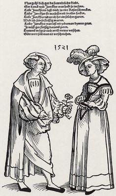 Barthel Beham, Junger Mann und Mädchen, 1521