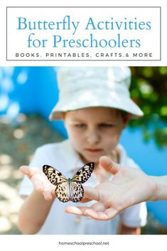 The spring and summer months are the best time to plan butterfly activities for preschoolers. Gather books, make crafts, and teach the life cycle. Insect Activities, Preschool Science Activities, Fun Activities To Do, Preschool Books, Kindergarten Science, Spring Activities, Science For Kids, Toddler Preschool, Preschool Activities