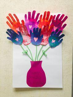 Super Ideas Birthday Card For Grandma From Toddler Valentine Crafts Teacher Birthday Card, Flower Birthday Cards, Birthday Cards For Mom, Birthday Crafts, Birthday Nails, Birthday Bouquet, Birthday Ideas, Birthday Recipes, Birthday Cupcakes