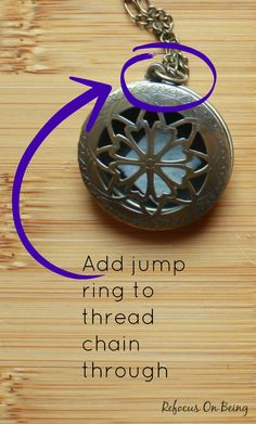 Learn how to make a DIY Essential Oil Diffuser Locket Necklace as a unique DIY Christmas gift idea or stocking stuffer!