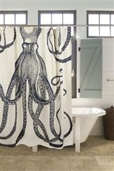 Octopus Shower Curtain Ink (New + Exclusive to shopthomaspaul.com!)