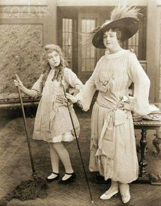 Mary Pickford and an early female impersonator, Julian Eltange.
