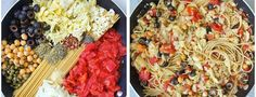 Découvrez cette recette végétarienne de one pot pasta alla puttanesca, artichauts, pois chiches, olives noires, un plat complet et délicieux !