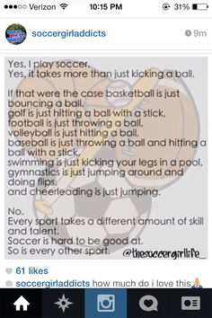 Found this on Instagram! People need to respect every sport! It is harder than it looks, I promise!