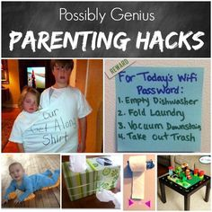 Some seriously fun ideas with these 13 Life Hacks for Parents. Creative problem solving from Princess Pinky Girl