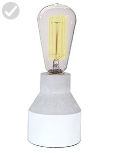 """Crystal Art 130504 5.63"""" Concrete Table lamp - Unique lighting lamps (*Amazon Partner-Link)"""