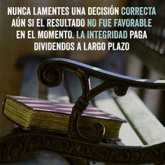 #Integridad en #decisiones