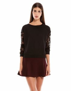 Bershka combined fabric sweatshirt Price:19.99€
