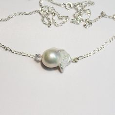 Silver jewelry pearl necklace baroque pearls   Etsy Handmade Pearl Jewelry, Silver Jewelry, Face Jewels, Baroque Pearls, Necklace Designs, Necklace Lengths, Swarovski Crystals, Pearl Necklace, Jewelry Making