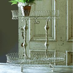 French-inspired wire plant stand...love it.