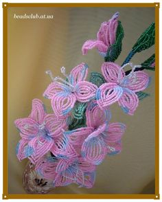 Гладиолус Розовый | biser.info - всё о бисере и бисерном творчестве