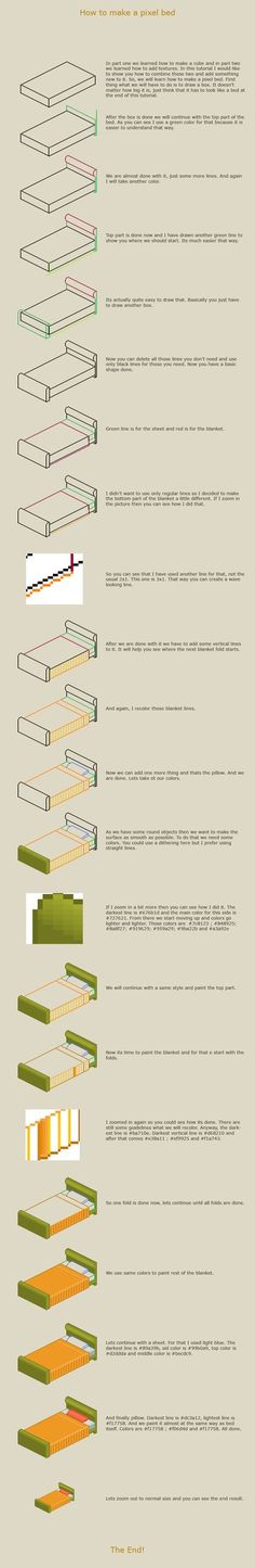 How to make a pixel bed by vanmall on DeviantArt