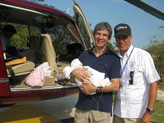 NHS surgeon David seen savinga Haitian baby, Landina Seignon, after the Haitian earthquake