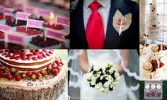 Berry themed wedding