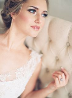 rosy cheeked bridal makeup