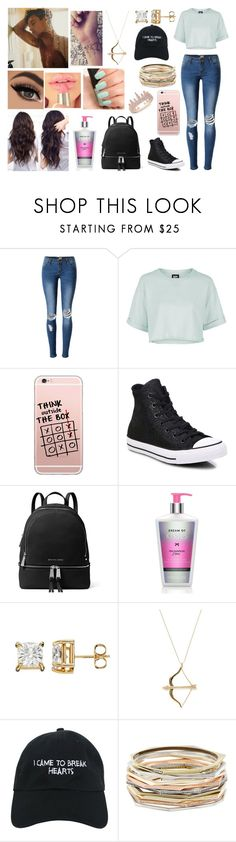 """""""Take the risk or lose the chance."""" by jblover-1fan on Polyvore featuring Topshop, Converse, MICHAEL Michael Kors, Victoria's Secret, Sydney Evan, NARS Cosmetics, Nasaseasons, Kendra Scott and Anne Sisteron"""