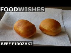 Beef Pirozhki - Food Wishes - Russian Meat Donuts Learn how to make Beef Pirozhki! If you've never had or heard of beef pirozhki before, imagine a very light jelly donut, except instead of jelly, . Pirozhki Recipe, Meat Recipes, Cooking Recipes, Food Wishes, Meat Appetizers, Russian Recipes, Seafood Dishes, Tasty Dishes, Food Videos