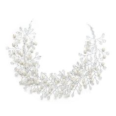 Girl Ladies Fashion Shining New Crystal Diamante Cream Hair Clip-Free UK Post