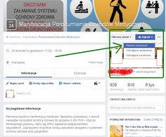 """W dniu wczorajszym na portalu społecznościowym facebook zostało utworzone wydarzenie o nazwie """"Manifestacja Porozumienia…"""
