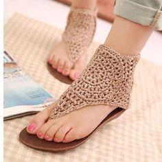 como hacer sandalias tejidas para niñas   Latest Top Summer Wear Stylish Foot wear Designs Spring Party Shoes ...