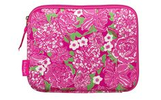 Help your technology stand out from the crowd with this preppy, protective Lilly Pulitzer iPad® sleeve / netbook sleeve in the popular May Flowers pattern. Coordinate your Apple iPad®, Tablet or Netbook with your Lilly dresses and collect them all!  • Convenient Inside Storage Pocket• Durable Neoprene Material• Fits most iPads, tablets and netbooks up to 10.2 inches, including the iPad2 & 3  Add a monogram for a super preppy tech case!