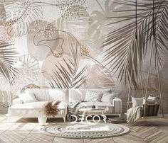 Geometric Wallpaper, Wall Wallpaper, Wall Painting Decor, Wall Decor, Mural Art, Wall Murals, Home Interior Design, Home Art, Bedroom Decor